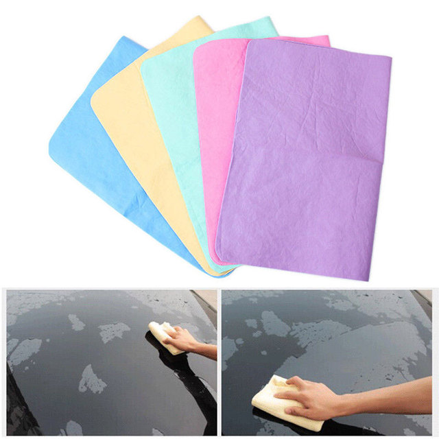 Car Cleaning Towel Vehicle CAR Cloth Cham Portable Auto Cleaning Tools Wash Magic Chamois 43*33cm Polishing Waxing