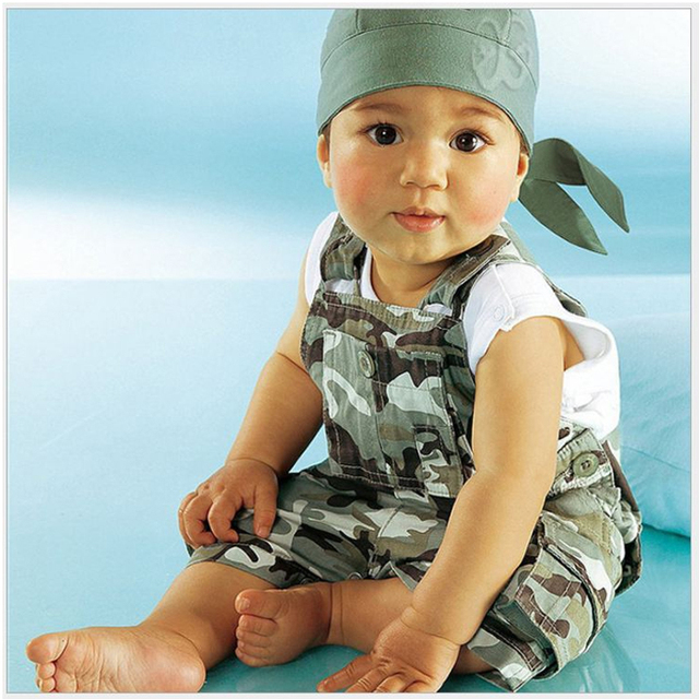 Foreign trade children camouflage strap 2 sets of children's clothing wholesale trade of single Hitz's free shipping