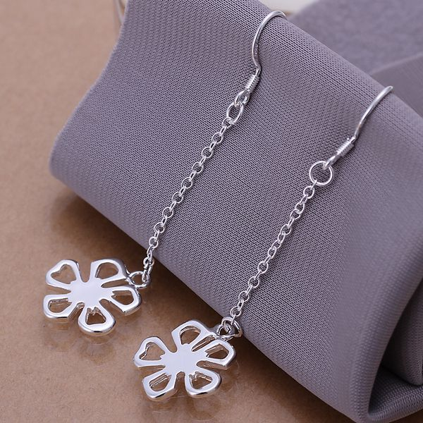 Fashion silver plated Earring for Women 925 jewelry silver plated For Women Flower Earrings E089 /AIWBJLAUE089