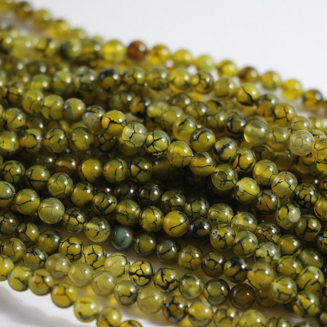 New Yellow Dragon Vein Agat natural stone carnelian onyx 6mm 8mm 10mm 12mm hot Round Loose Beads 15 inches A30