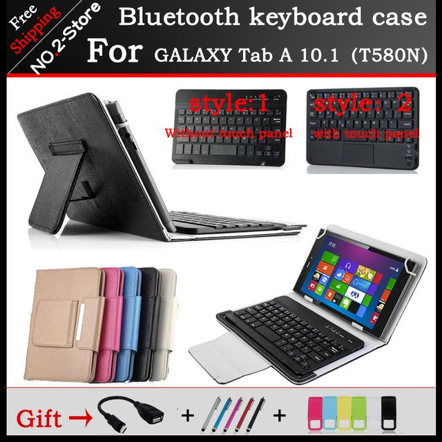 Universal Portable wireless Bluetooth Keyboard Case For Samsung GALAXY Tab A 10.1  T580N 10.1 inch Tablet PC ,Free shipping+gift