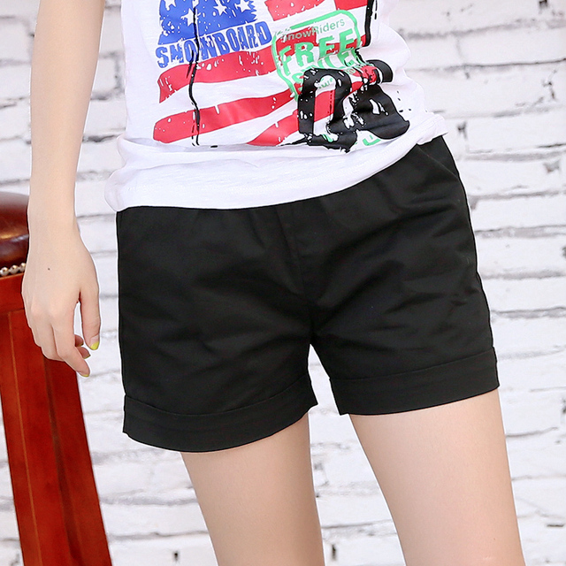 New Summer Shorts Women Casual Fashion Candy Color Hot Sales Shorts Female Plus Size Loose Ladies Leisure Shorts