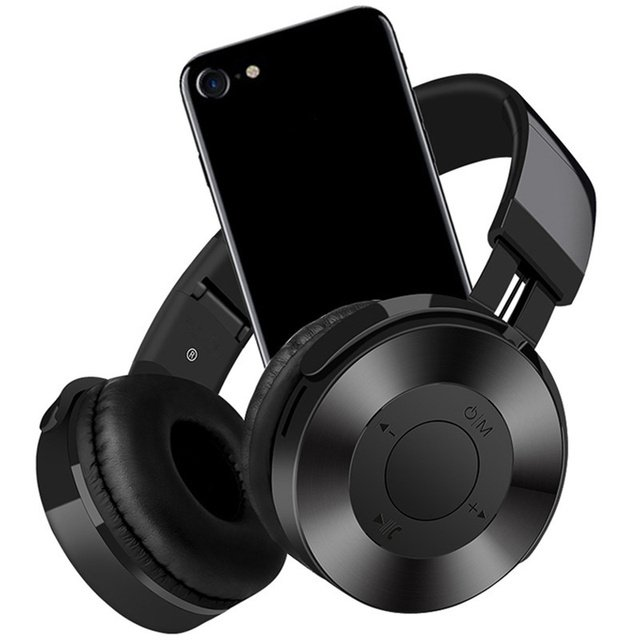 Wireless Bluetooth Headphones With Mic Support TF Card FM Radio Bass Headset For iPhone Xiaomi PC MP3