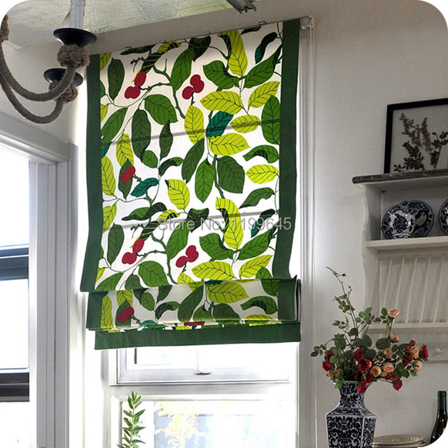2015 Included Curtains New Arrival Thickening Leaf Roman Shutter Double Layer Shade Blinds The Finished Curtain free Shipping