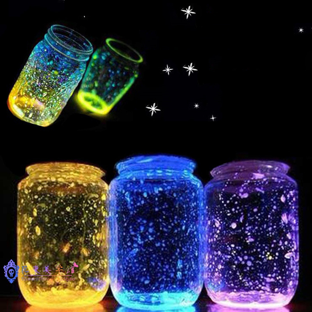 DIY Luminous Glow Gravel Noctilucent Sand Fish Tank Aquarium Fluorescent Particles Party Decoration