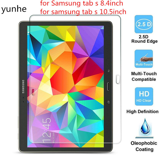 Tempered Glass For Samsung Galaxy Tab S 10.5 T800 T805 Screen Protector for Samsung Galaxy Tab S 8.4 T700 T705 Screen Protector