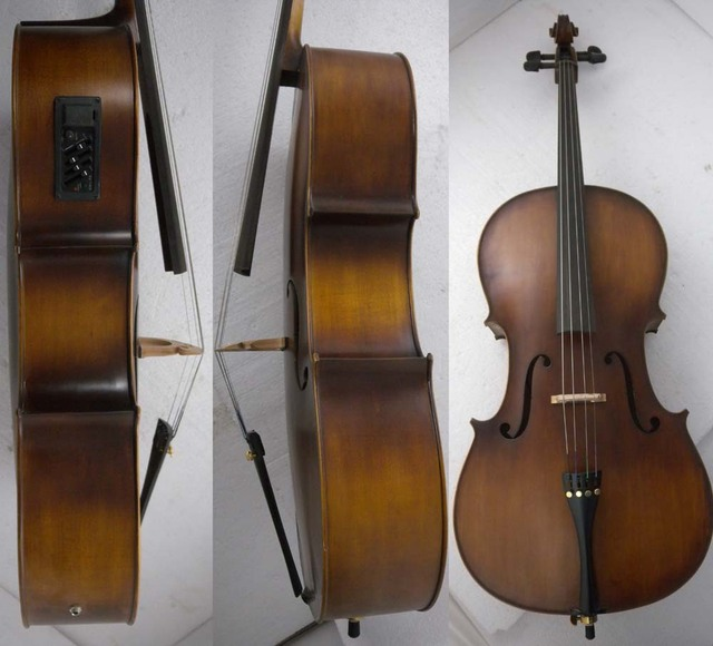 Cello 4/4 New Electric Acoustic Cello Nice Sound Solid wood 4  string #206  you can choose color  i can make for you