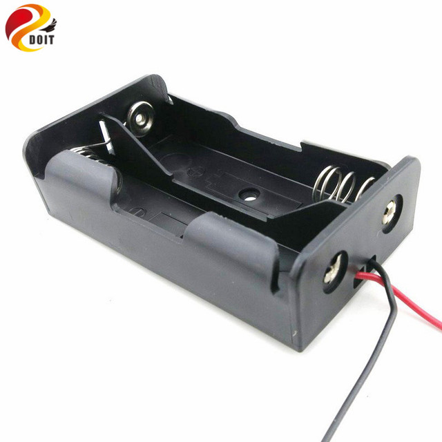18650 Battery Holder Plastic Battery Holder Storage Box Case for 2x18650 DIY Robot Toy Part