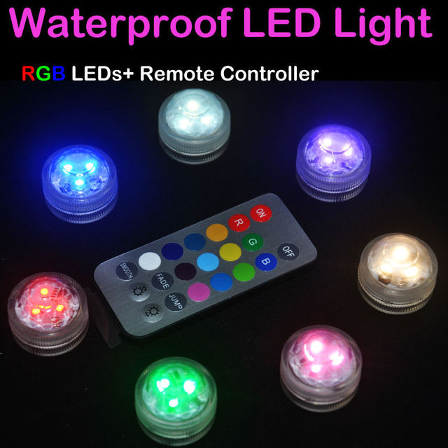 Centerpiece Lighting!!! 10pieces / lot Waterproof Design Submersible Triple LED Tea Light With Remote For Wedding Party Decor