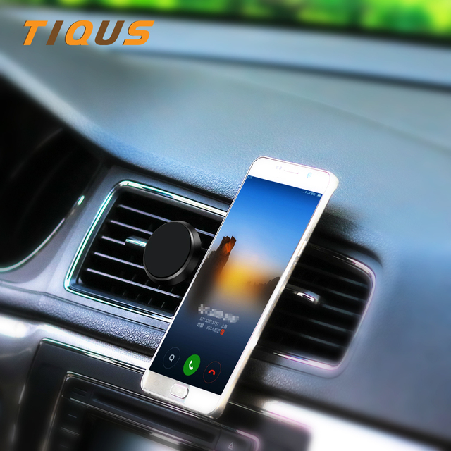 TIQUS Magnetic Phone Car Holder For iPhone Samsung Xiaomi Universal Magnet Air Vent Mount Car Holder Mobile Cell Phone Stand