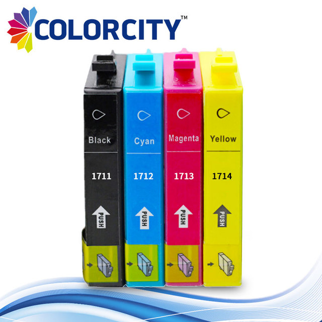 T1711 - T1714 compatible ink cartridge for Epson XP33 XP103 XP203 XP207 XP303 XP306 XP403 XP406 XP313 XP413 printer , full ink