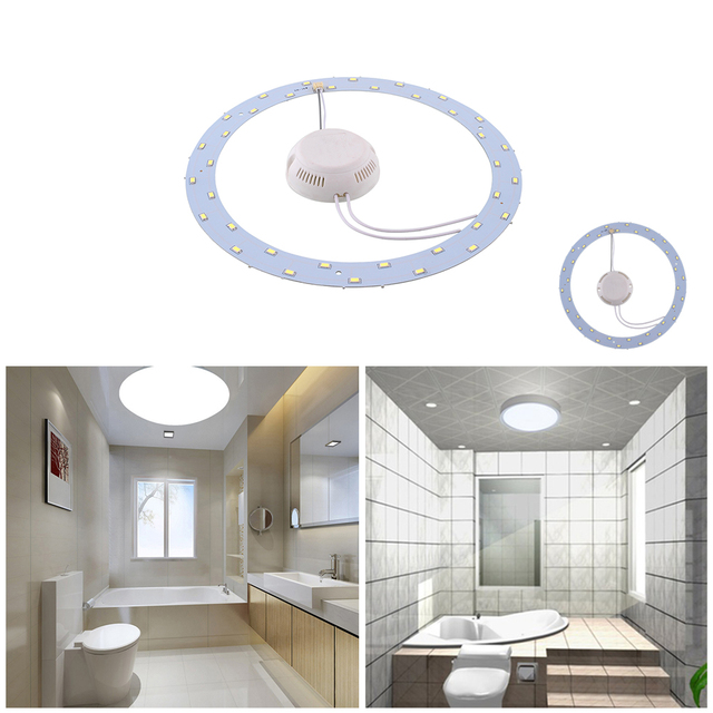 18W 36 SMD LED Panel Circle Annular Home Practical Ceiling Light Pure White