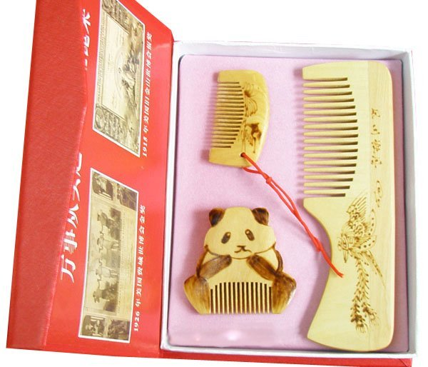 Classic!hot Sale!gifts With Chinese Characteristics Boxwood Comb-huangyang Xiaoshu San Jiantao