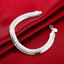silver color 10MM Snake 21.5cm Noble wedding for WOMEN MEN noble fashion jewelry gifts Mens chain jewelry Bracelet H231