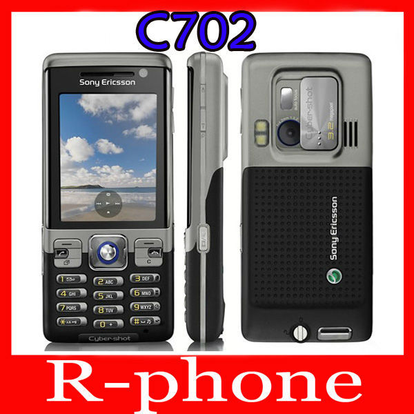 Original Refurbished Sony Ericsson C702 Mobile Cell Phone 3G GPS 3.15MP Unlocked One Year Warranty