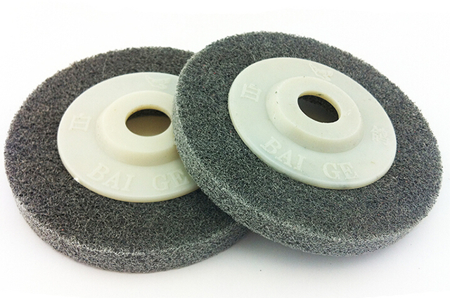"2 pieces 4""*13mm/100mmx13mm Nylon Grinding Disc 7P 180# Flap Wheel for Metal Finish Wood Polishing on Angle Grinder"