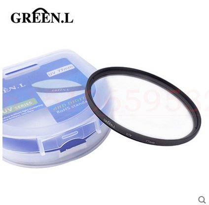 Green.L 77mm Haze uv Ultra-Violet Filter Lens Protector for canon Nikon for Sony Pentax lens camera & photo