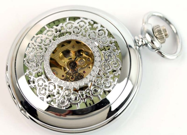 wholesale ANTIQUE MECHANICAL POCKET WATCH WITH LEATHER POUCH freeship