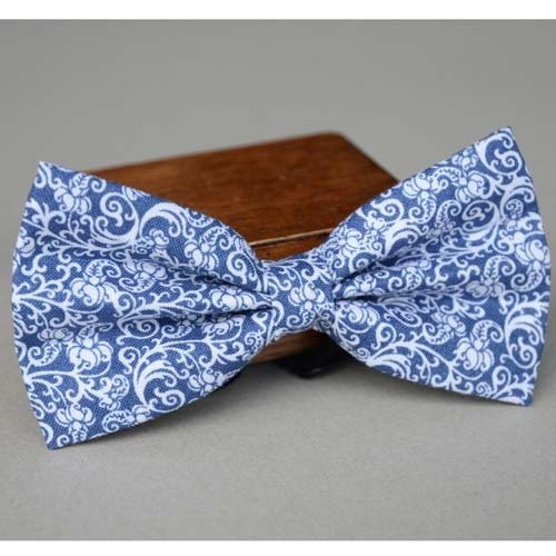 Blue and white porcelain mens bow tie,bow ties for men,necktie,pre tied neckwear,butterfly,bule bow tie