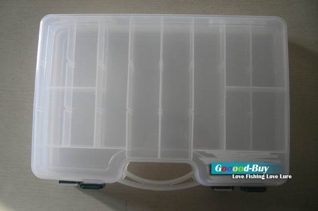 Fishing Lure Spoon Plastic two-sided tool Box LB8