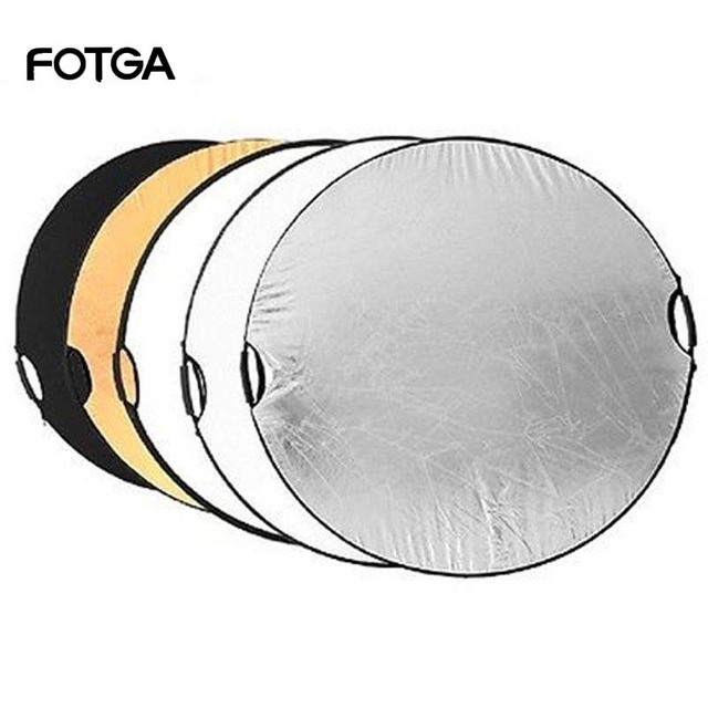 """FOTGA 5 in 1 110cm 43"""" Portable Collapsible Light Round Photography Reflector for Studio Multi Photo Disc"""