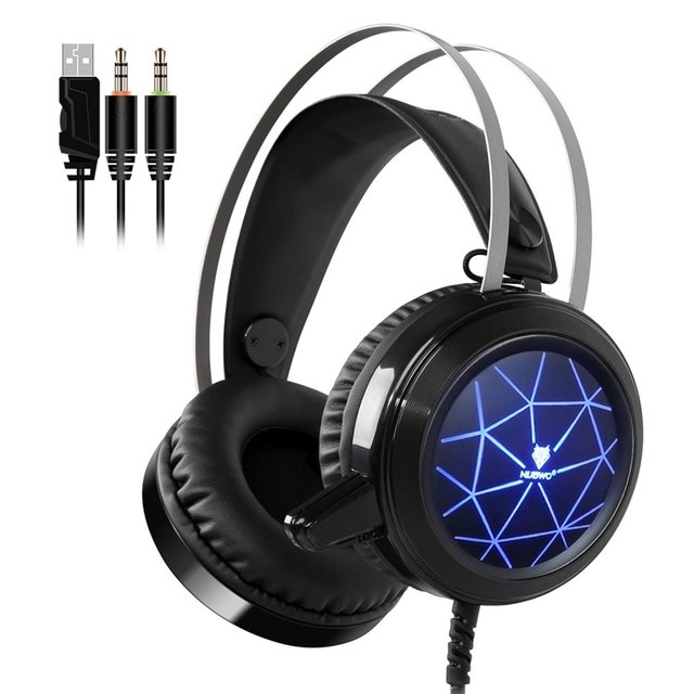 N1 Gaming Headphone 3.5mm Wired Gaming Headphone headset Wired Gaming Headband with Mic For Computer Video Games PC/MAC