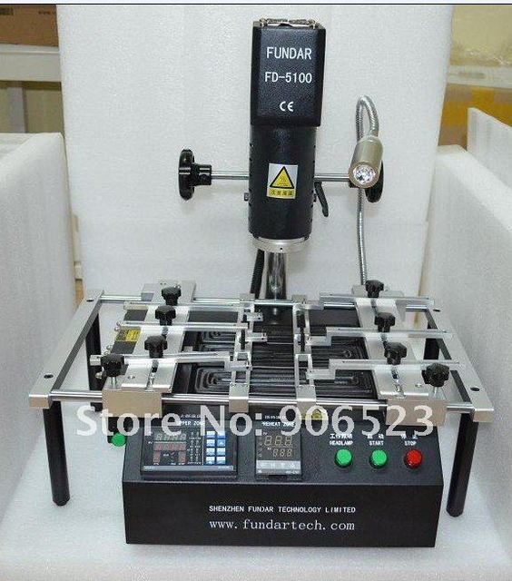 free shipping FUNDAR FD 5100 hot air bga rework station for laptop xbox ps3 chip soldering