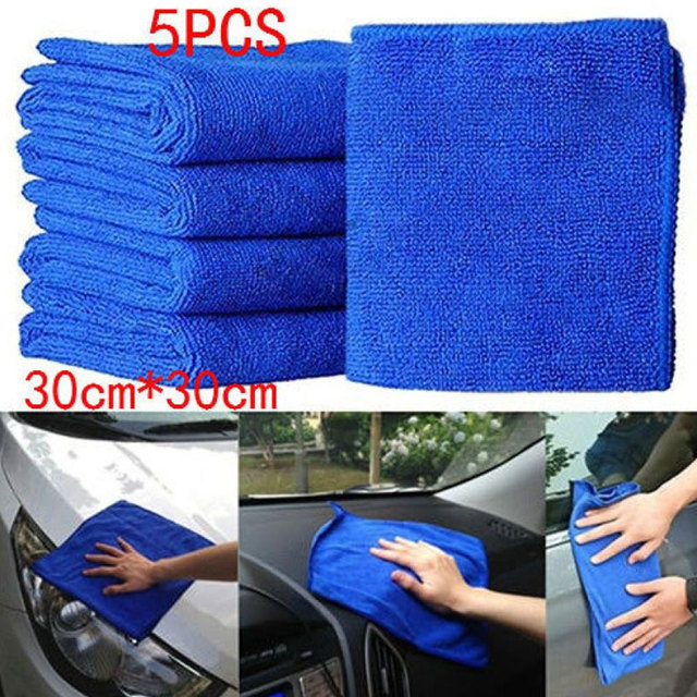 Car Wash Cloth Carcleaning Kitchen Cleaning Soft Home & Living Cloth Carcare 5PCS Microfiber Cars Car Accessories Towels