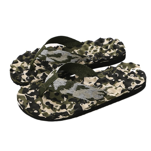 Camouflage Summer Men Flip Flops Casual Slippers Sandals Slipper Indoor Outside Flip-flops Beach Shoes Male Flat Slippers