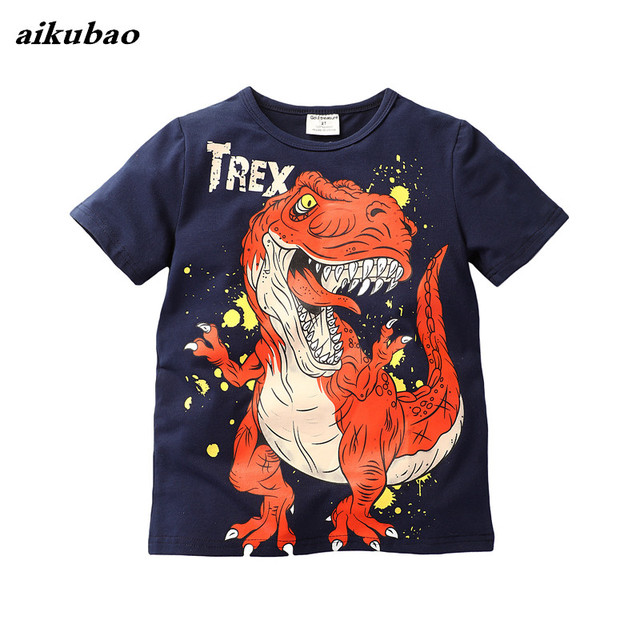 baby boys clothing 100% cotton 2018 New Children's Summer T-shirt Boy's Cotton Short-sleeved Casual T-shirt Children's Clothing