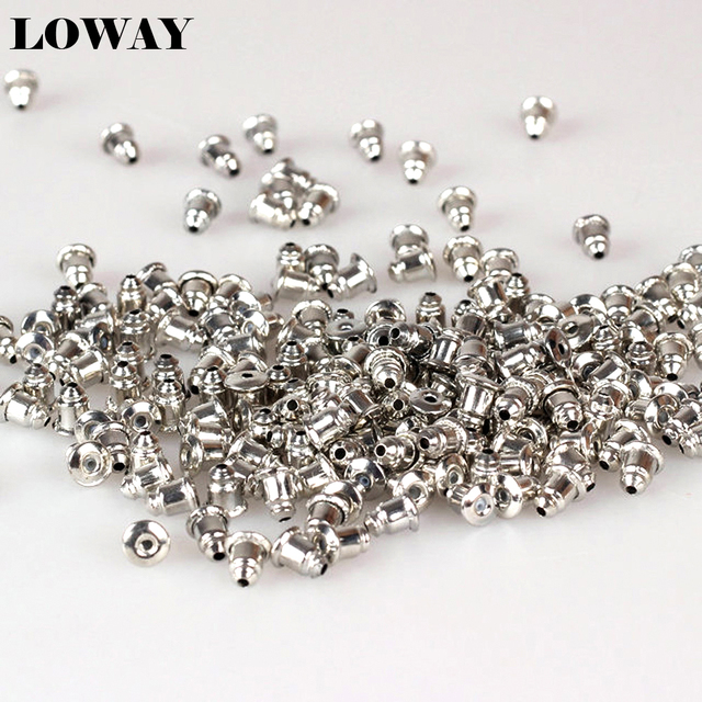 Free shipping!Silver Color/gold Color earring back stopper safety backs behind the ears 100pcs in a pack  ED2012
