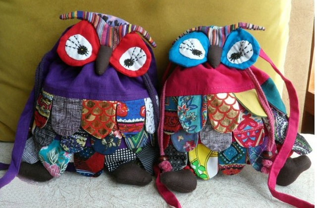 10pcs Baby OWl style colorful bag Modern Vintage Casual Bags boys handmade owl Backpack