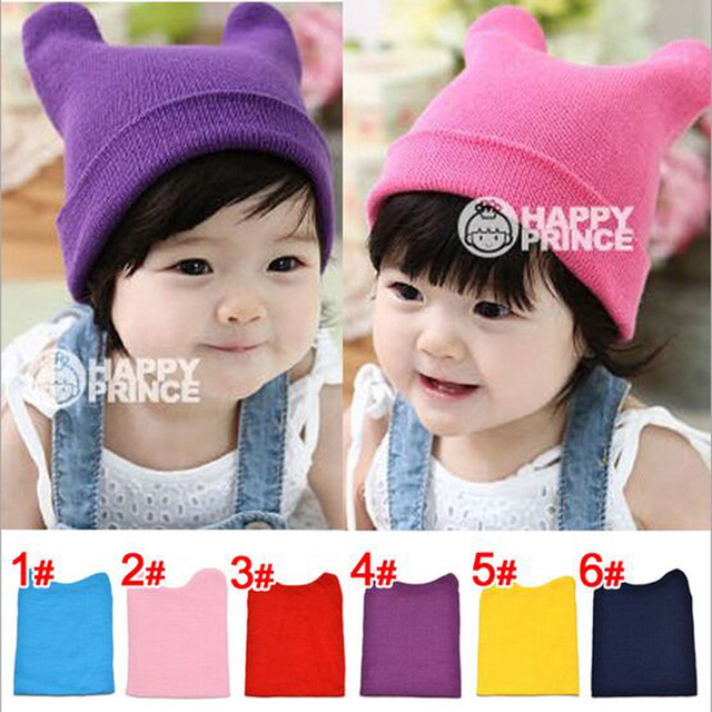 Special Design Oxhorn-liked Kids Caps for Winter Spring 6 Candy Colors Select Baby Hat Nice Choice Infant Headwear HT51022+30