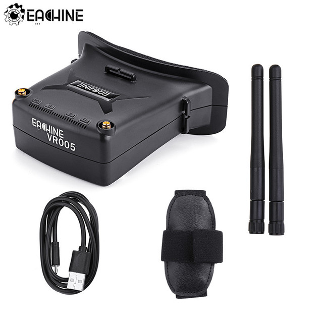 Eachine VR005 2.7 Inch 960*240 5.8G 48CH FPV Goggles Raceband Auto-Search With Dual Antennas 3.7V 1000mAh Battery For RC Drone