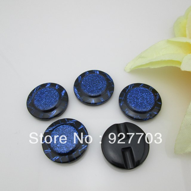 (CM553)60pcs Beautiful 28mm  Round Resin Blue Button For Clothes Sewing Craft
