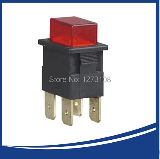 PS23-16 250VAC ON-OFF RED 16A push button switch