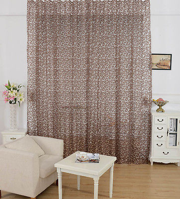 New Arrival Peony Pattern Voile Curtain Window Valance European Lace Curtains Girls Bedroom Curtains treatments drapes one panel