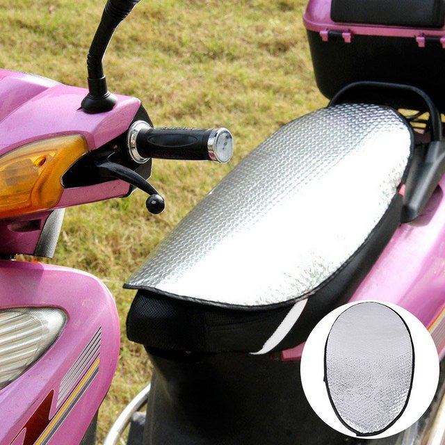 Vehemo Motorcycles Aluminum Foil Seat Cover Cushion Insulation Sunscreen Pad Insulation Cushion Durable Universal Scooter