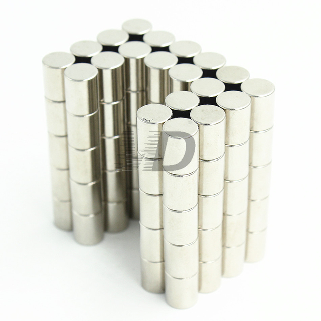 10pcs Neodymium N35 Dia 7mm X 10mm  Strong Magnets Tiny Disc NdFeB Rare Earth For Crafts Models Fridge Sticking Free Shipping