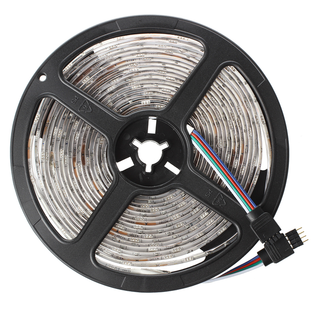 5M Tape Ribbon Flexible Bright 5050 SMD 150 LED Light RGB Waterproof With Remote Control