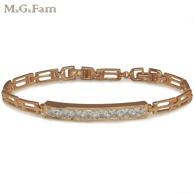 MxGxFam  Gold Color Bright Gems Watch Bracelet Women for Factory Price Lead and Nickel Free