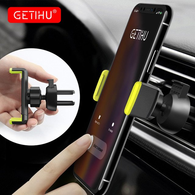 GETIHU Universal Car Phone Holder Mini Air Vent Mount NO Magnetic Mobile Holder For iPhone XS MAX Samsung Support GPS Stand Car