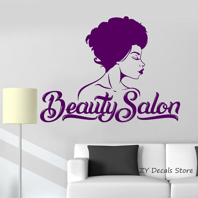 Beauty Salon Wall Decals Beautiful Woman Shop Interior Room Wall Sticker Home Decor Hairdresser Hairstyle Wallpaper L331 Buy Inexpensively In The Online Store With Delivery Price Comparison Specifications Photos
