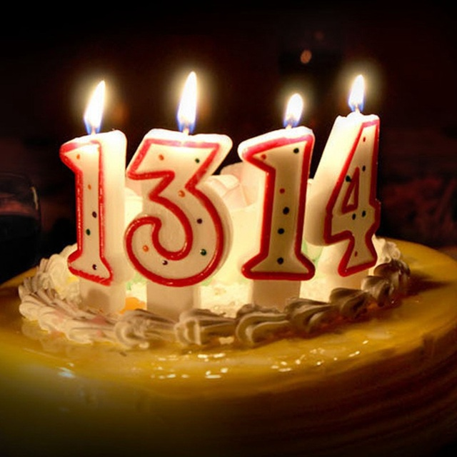 Dot Birthday Number Candle 1 2 3 4 5 6 7 8 9 0 Kids Adult Birthday Candles For Cake Party Supplies Decoration Cake Candles Decor