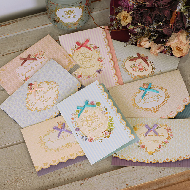 Mini top grade lace paper invitation cards home wedding party size 14x10cmfoldable 18pcs/lot