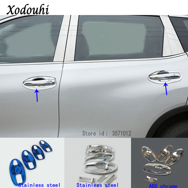 For Nissan X-Trail XTrail T32/Rogue 2017 2018 2019 2020 Car Styling Cover Protection Detector Trim External Bowl Stick Frame