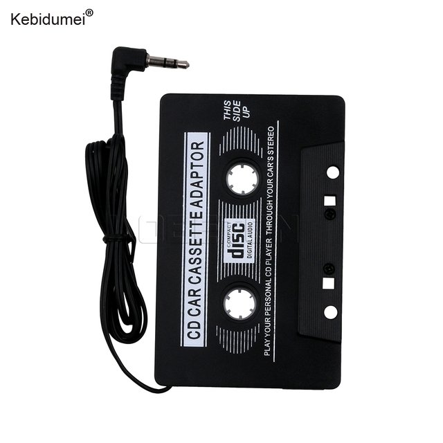 Kebidumei Black Car Cassette Adaptor Disc Digital Audio Tape for iPod / MP3 / CD /DVD Player All Audio Devices High Quality