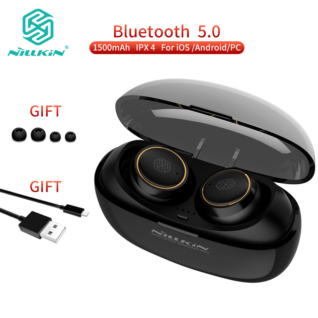 Nillkin Automatic Pairing Wireless Bluetooth 5.0 TWS Earphone Stereo Microphone Handsfree Earbuds with 1500mAh Charging Case