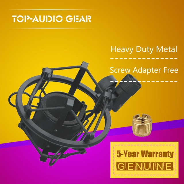 High Quality Mic Clip Clamp Holder Stand Studio Recording Microphone Suspension Spider Shock Mount For AKG P120 Perception 120