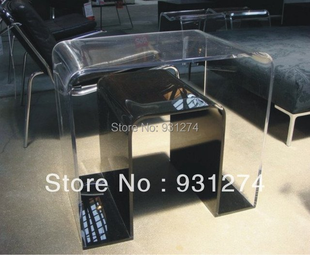 ONE LUX Clear Acrylic u-turn Table,lucite magzine table,perspex furniture,acrylic furnishing
